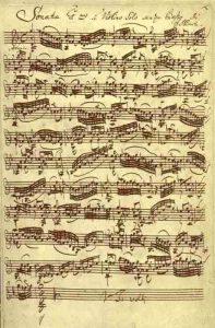 Manoscritto di J. S. Bach